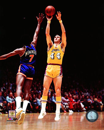 Los Angeles Lakers Basketball Jerry West Photo Print
