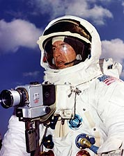 Lovell with Hasselblad Camera Apollo 13 NASA Photo Print for Sale