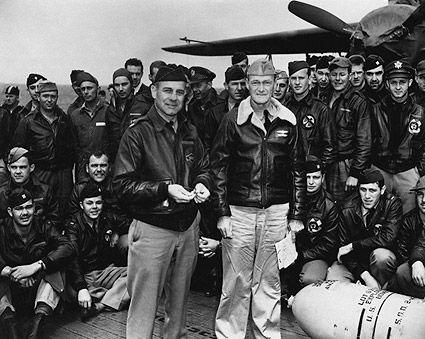Lt. Col. Jimmy Doolittle with Tokyo Raiders WWII Photo Print
