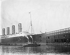 Lusitania Cruise Ship Hudson River Pier NYC Photo Print for Sale