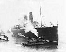 Lusitania Cruise Ship w/ Baseball Players Photo Print for Sale