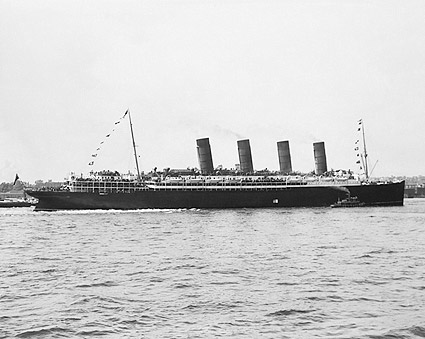 Lusitania Four Stack Cruise Ship Profile Photo Print