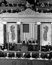Lyndon Johnson 1964 State of the Union Photo Print for Sale