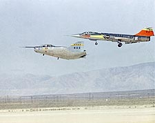 M2-F2 Lifting Body w/ F-104 Chase Plane Photo Print for Sale