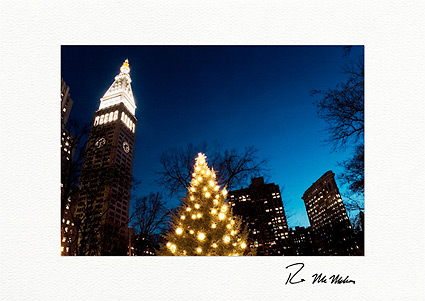 Madison Square Park Clock Tower Flatiron Personalized Christmas Cards