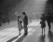 Man and Elderly Woman in Grand Central Station NYC Photo Print for Sale