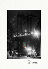 Manhattan Bridge Empire State Building Personalized Christmas Cards