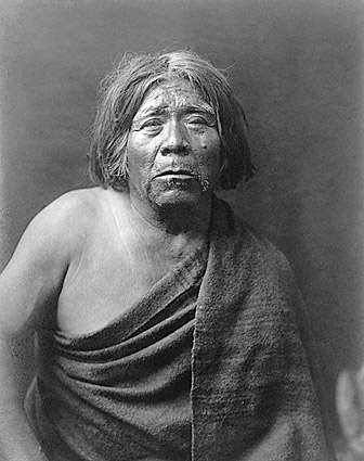Maricopa Indian Edward S. Curtis Portrait Photo Print