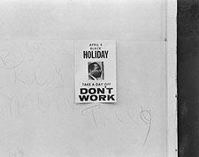 Martin Luther King Anniversary Don't Work Photo Print for Sale