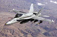 F/A-18 Hornet Armed in Flight F-18 Photo Print for Sale