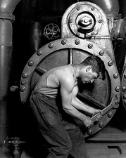Mechanic & Steam Pump Lewis Hine Labor Photo Print