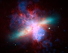 Messier 82 Galaxy Hubble Space Telescope Photo Print for Sale