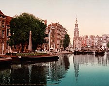 Munttoren De Munt / Mint Tower Amsterdam Photo Print for Sale