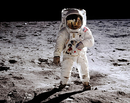 NASA Astronaut Buzz Aldrin EVA Apollo 11 Photo Print