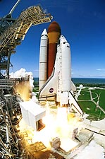 NASA Discovery Shuttle Launch Fish Eye Photo Print for Sale