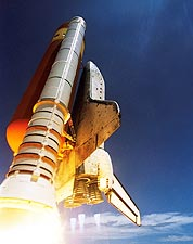 NASA STS-121 Discovery Launch Afterburners Photo Print for Sale