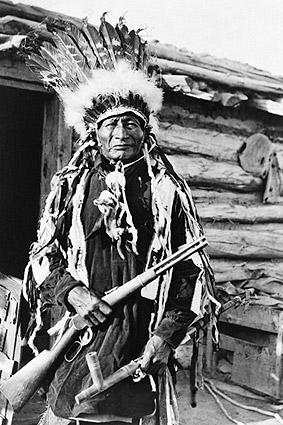 Native American Indian W/ Peace Pipe 1912 Photo Print
