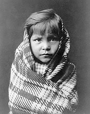 Navajo Indian Child Edward S. Curtis 1905 Photo Print for Sale