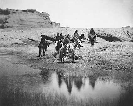 Navajo Indians on Horseback Edward S. Curtis Photo Print