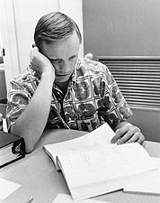 Neil Armstrong Reviewing Flight Plans Photo Print for Sale