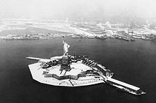 New York City Statue of Liberty After Snow Photo Print for Sale
