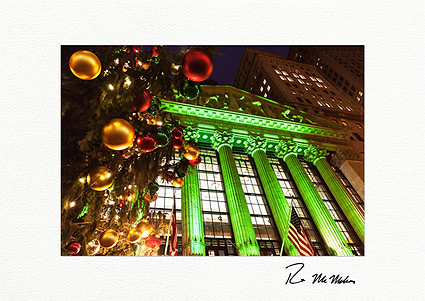 New York Stock Exchange Christmas Lights Personalized Christmas Cards