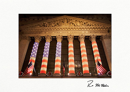 New York Stock Exchange NYC Individual Christmas Cards