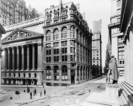 New York Stock Exchange & Wilks Building Photo Print