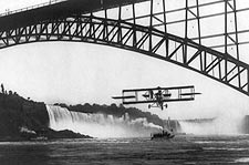 Niagara Falls Bridge Lincoln Beachey Flight Photo Print for Sale
