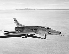 F-100 Super Sabre on Lakebed Photo Print for Sale