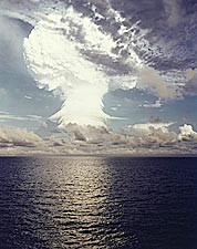 Nuclear Bomb Atmospheric Testing in Pacific Photo Print for Sale