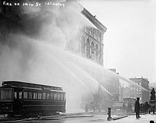 NYC Firefighters Putting out Fire 1909 Photo Print for Sale