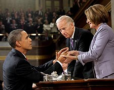 Obama, Biden and Pelosi at State of the Union Address 2010 Photo Print for Sale