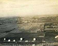 Observation Balloons at Base in France WWI Photo Print for Sale