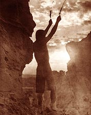 Offering to the Sun Indian Edward S. Curtis Photo Print for Sale