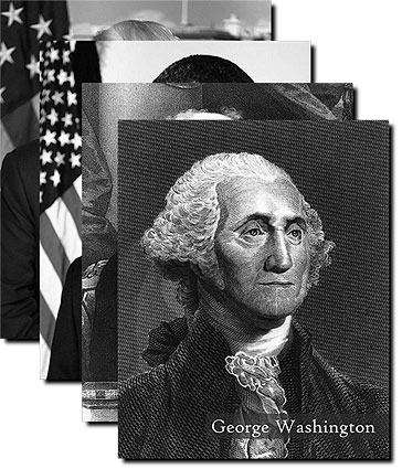 Official Presidential Photos Complete B&W Collection w/ Names Photo Prints