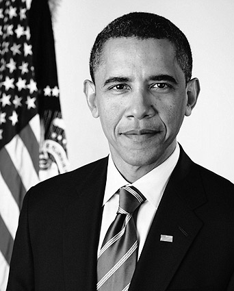 Official Presidential Portrait of Barack Obama Photo Print