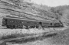 Old West 1891 Steam Train and Passengers Photo Print for Sale