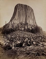 Old West Devil's Tower Monument 1890 Photo Print for Sale