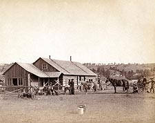 Old West Western Ranch House 1888 Photo Print for Sale