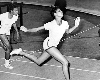 Olympic Champion Wilma Rudolph at Finish Line Photo Print