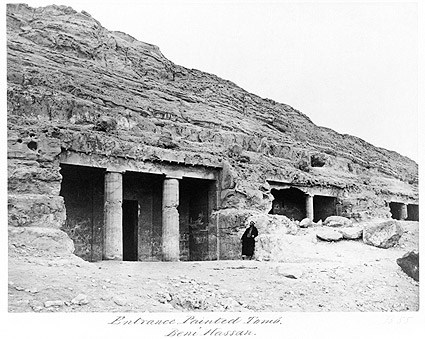 Painted Tomb Entrance Egypt Photo Print