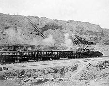Panama Canal Construction Work Train 1910 Photo Print for Sale