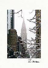 Personalized Chrysler Building Winter New York City Holiday Cards