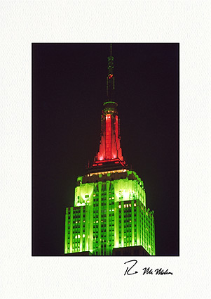 Personalized Empire State Building New York City Christmas Cards
