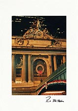 Personalized Grand Central Station New York City Christmas Cards