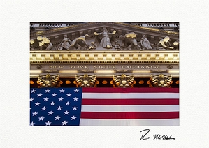 Personalized Patriotic New York Stock Exchange Greeting Cards