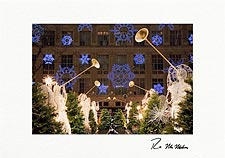Personalized Snowflake Angels at Rockefeller Center Christmas Cards