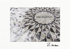 "Personalized Strawberry Fields ""Imagine,"" Central Park Holiday Cards"