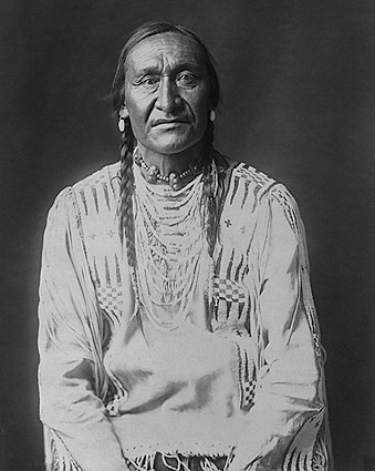 Piegan Indian Running Owl, Edward S. Curtis Photo Print